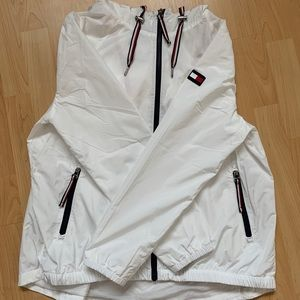 White Tommy Hilfiger Waterproof Jacket